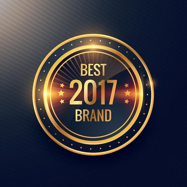 Rok Najlepszy Projekt Marki Złoty Etykieta Odznaka Wektor Etykieta Darmowych Wektorów