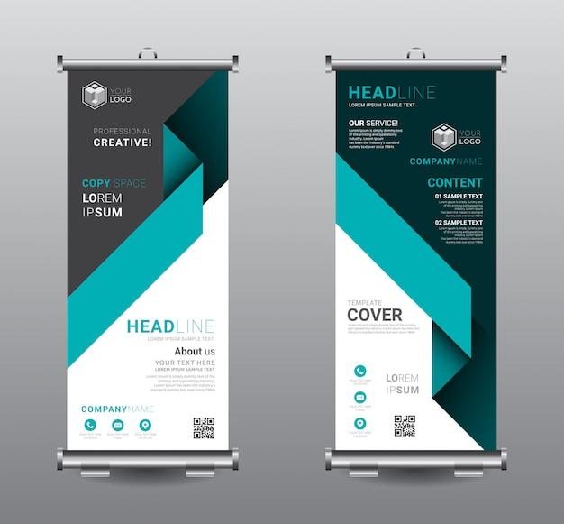 Roll up banner standee szablon biznesowy. Premium Wektorów