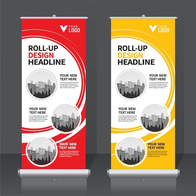 Roll Up Banner Premium Wektorów