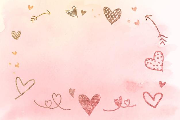Romantyczna Ramka Na Walentynki Darmowych Wektorów