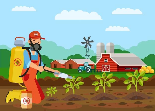 Rośliny owadobójczy zastrzyki wektor ilustracja Premium Wektorów