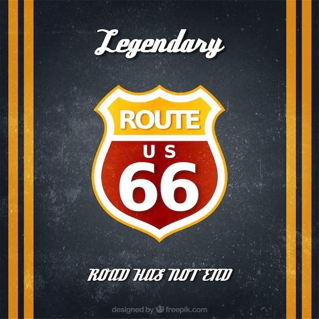 Route 66 Badge Darmowych Wektorów