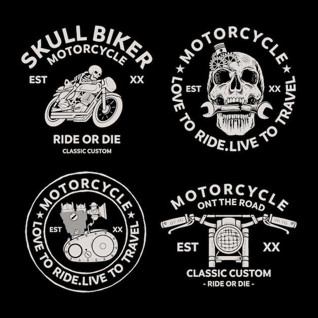 Rowerzyści Odznaki Herby Wektorowe Ikony. Klasyczne Logo. Premium Wektorów