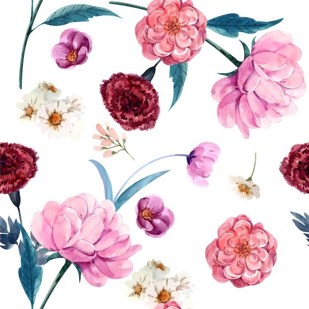 Róża Bez Szwu Wzór Tapety I Tła Premium Premium Wektorów