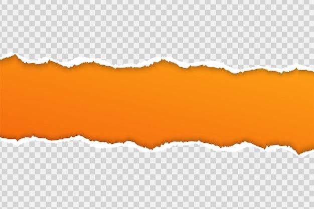Rozerwij papier lub krawędź na przezroczystym tle. Premium Wektorów