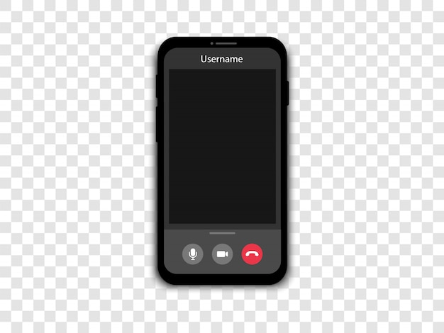Rozmowa Wideo Na Smartfonie. Ekran Telefonu Z Rozmową Wideo I Konferencją Online. Premium Wektorów