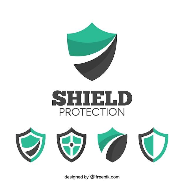 Różne loga shield Darmowych Wektorów