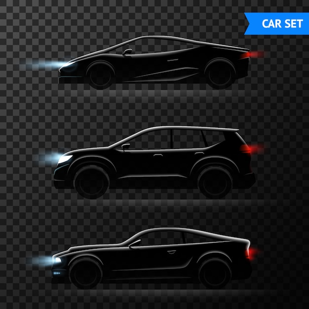 Różne Stylowe Modele Samochodów Ilustracji Wektorowych Darmowych Wektorów