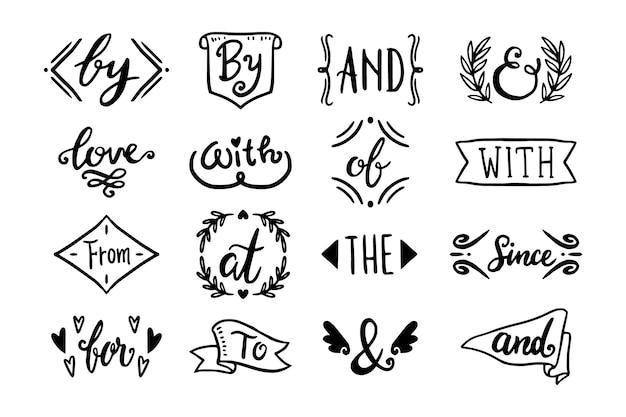 Różne Zbiory Haseł I Znaków Ampersands Darmowych Wektorów