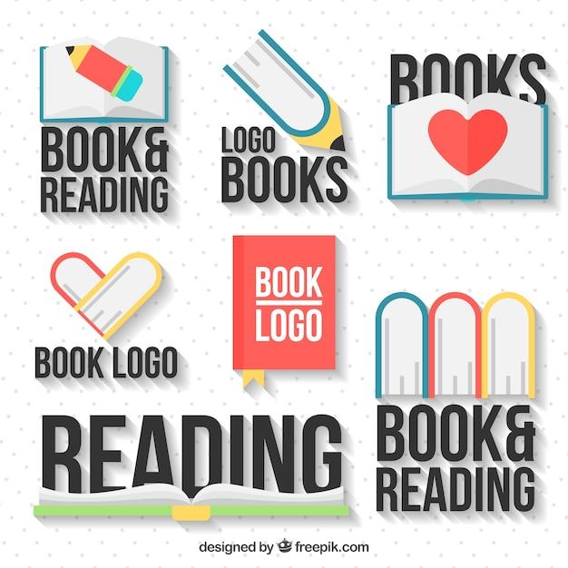 Różnorodność dekoracyjne książki logo Darmowych Wektorów