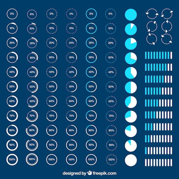 Różnorodność ładowania ikon Darmowych Wektorów