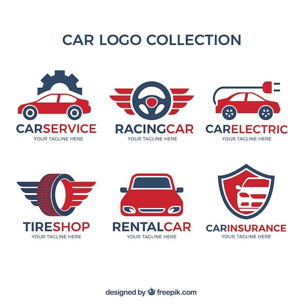 Różnorodność Logo Samochodu Z Czerwonym Szczegóły Darmowych Wektorów