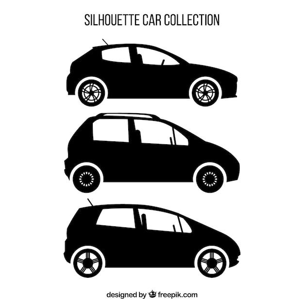 Różnorodność Sylwetki Samochodów Darmowych Wektorów