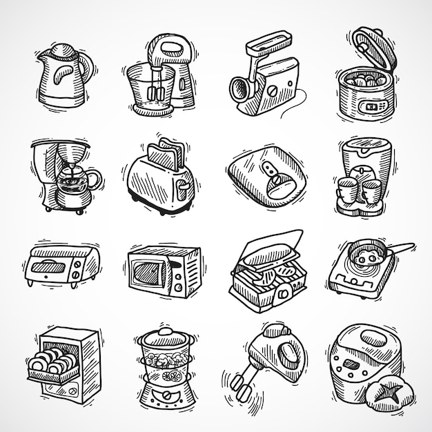 Różnorodność Urządzeń Projektowania Darmowych Wektorów