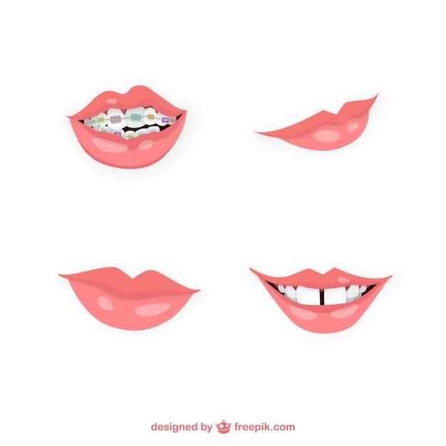 Różnorodność ustach Darmowych Wektorów