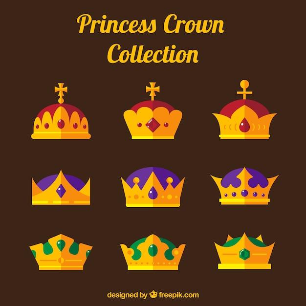 Różnorodność Złota Korony Księżniczki Darmowych Wektorów