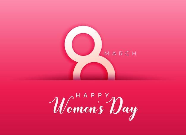 Różowe Tło Dla Szczęśliwego Dnia Kobiet Darmowych Wektorów