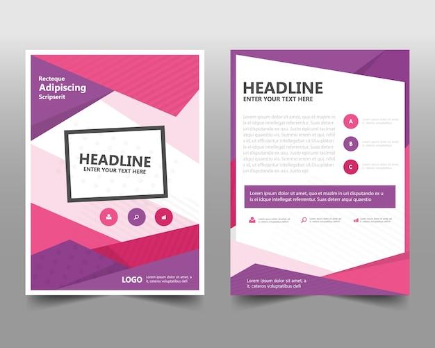Różowy kreatywny szablon raportu rocznego Darmowych Wektorów