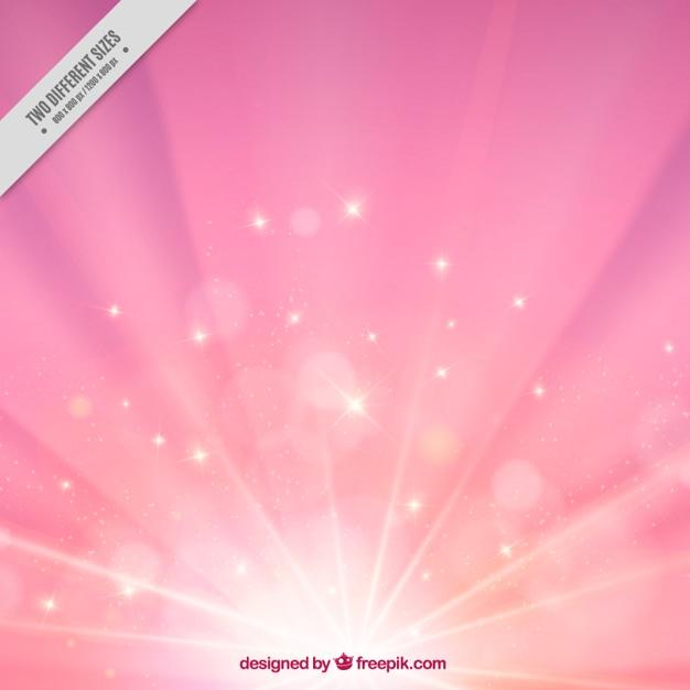 Różowy sunburst tle Darmowych Wektorów