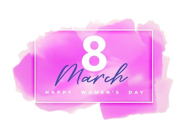 Różowy Tło Akwarela Na Szczęśliwego Dnia Kobiet Darmowych Wektorów