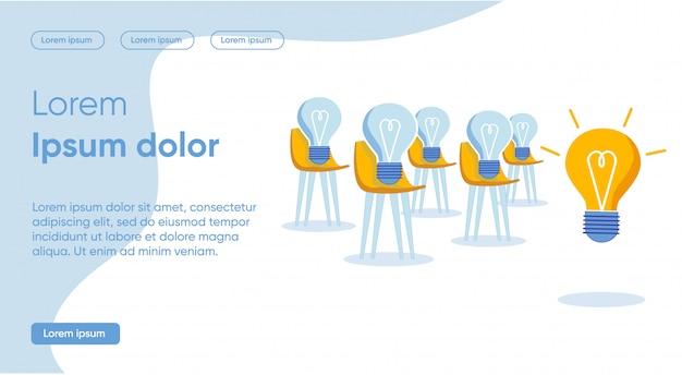 Rozwiązania Każdego Konkretnego Zadania Z Pomocą Strony Docelowej Pomysłu Premium Wektorów