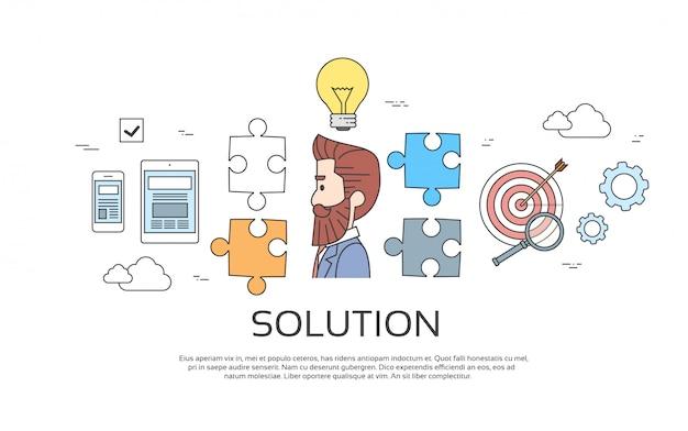 Rozwiązanie business man Premium Wektorów