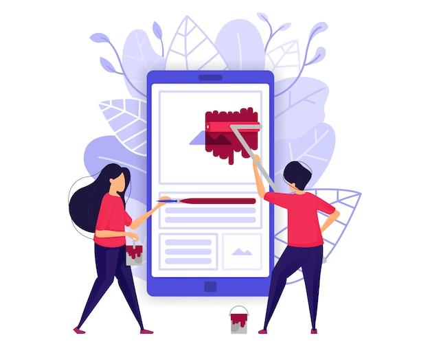 Rozwój aplikacji mobilnych. Premium Wektorów