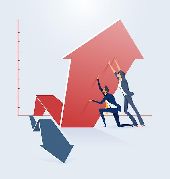 Rozwój biznesu i koncepcja sukcesu Premium Wektorów