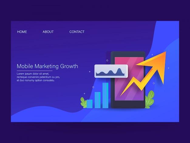Rozwój marketingu mobilnego Premium Wektorów