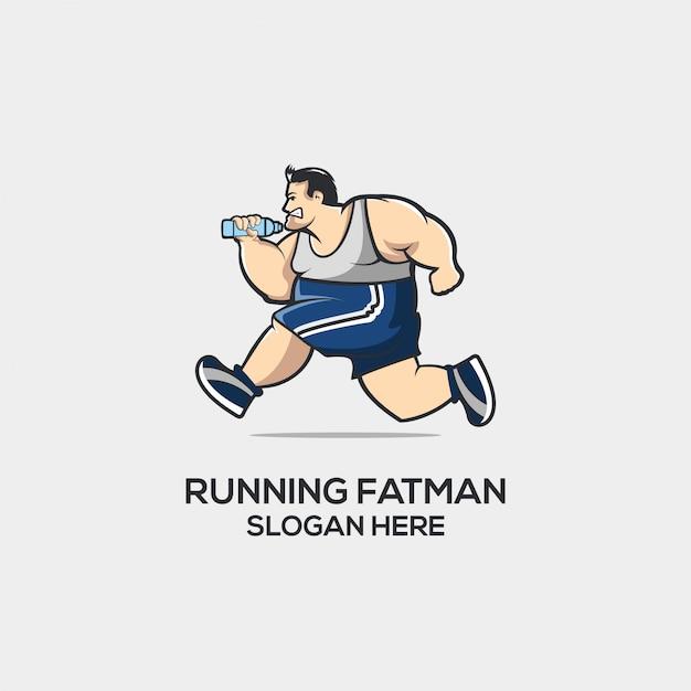 Running fatman Premium Wektorów