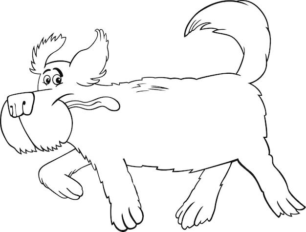 Running Sheepdog Cartoon Do Barwienia Premium Wektorów