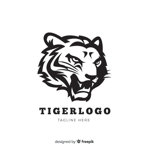 Ryczące logo tygrysa Darmowych Wektorów