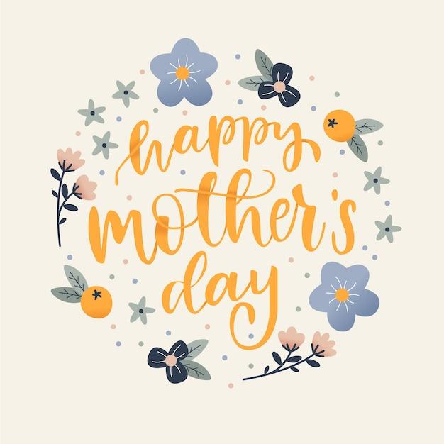 Rysowane Dzień Matki Darmowych Wektorów