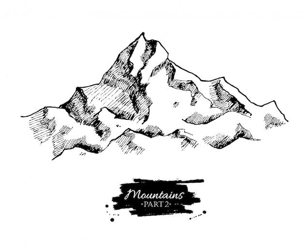 Rysowanie gór. Premium Wektorów