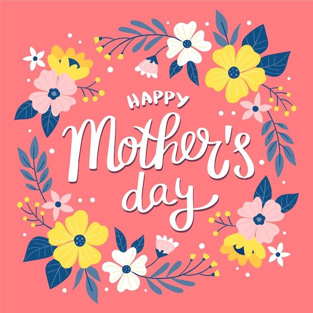 Rysowanie Z Motywem Dnia Matki Darmowych Wektorów