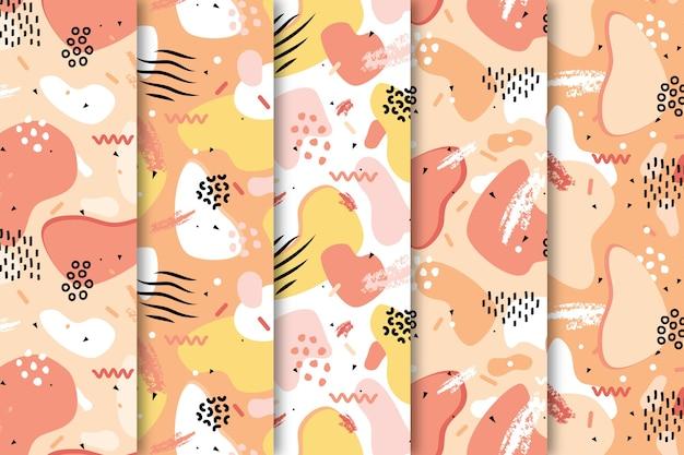 Rysuj Tapetą Z Kolorowymi Wzorami Darmowych Wektorów