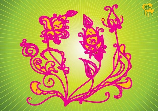 Rysunek kwiat Darmowych Wektorów