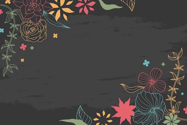 Rysunek Kwiatów Na Tablicy Tapeta Darmowych Wektorów