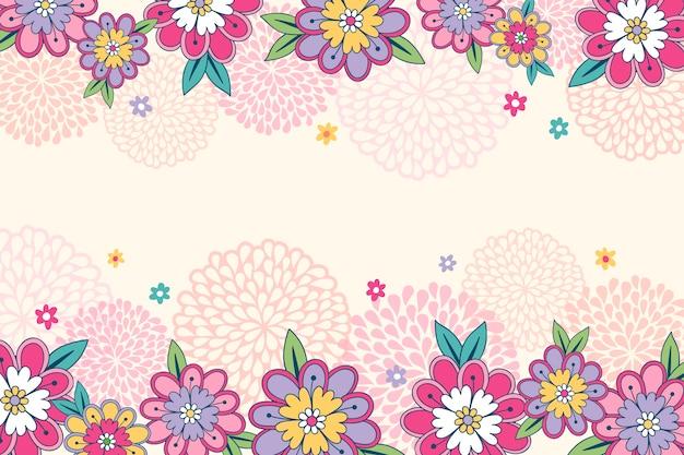 Rysunek Kwiatów Na Tablicy Tapety Darmowych Wektorów