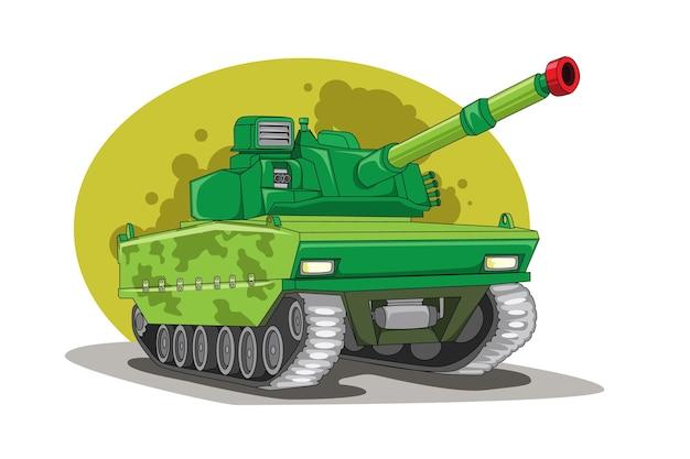 Rysunek Odręczny Pojazdu Czołgowego Premium Wektorów