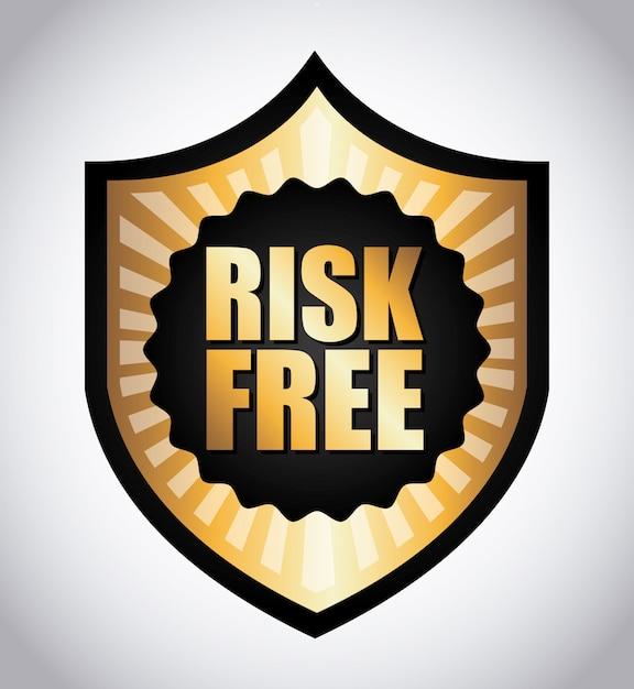 Ryzyko wolne na szarym tle ilustracji wektorowych Premium Wektorów