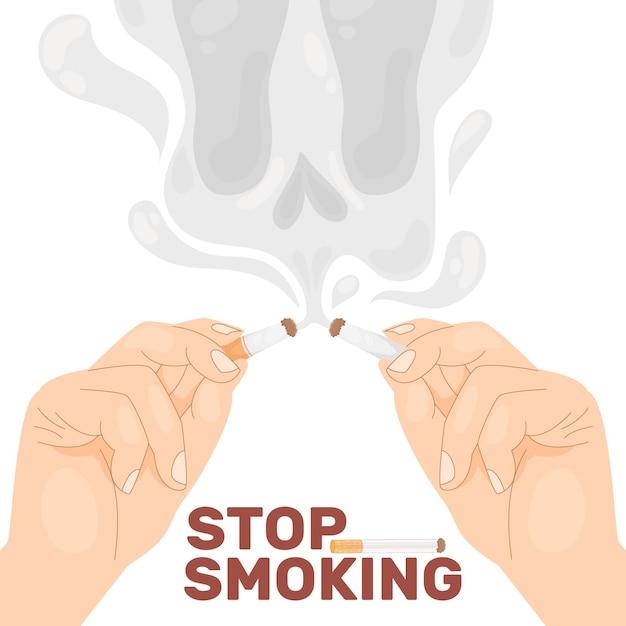 Rzucić Palenie Ilustracji Premium Wektorów