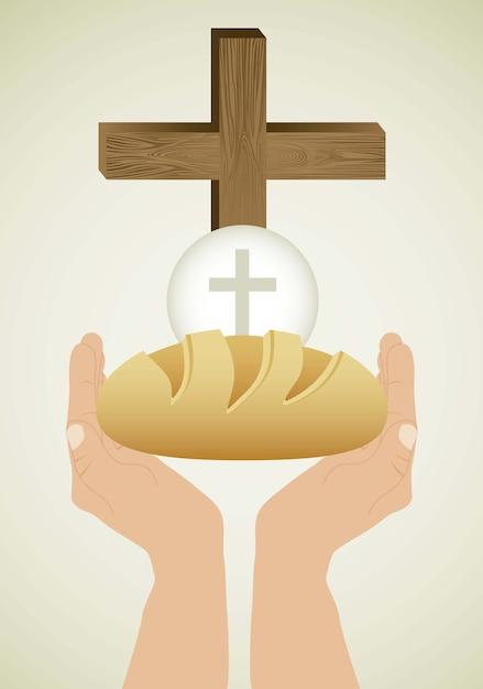Sakrament Eucharystyczny Premium Wektorów