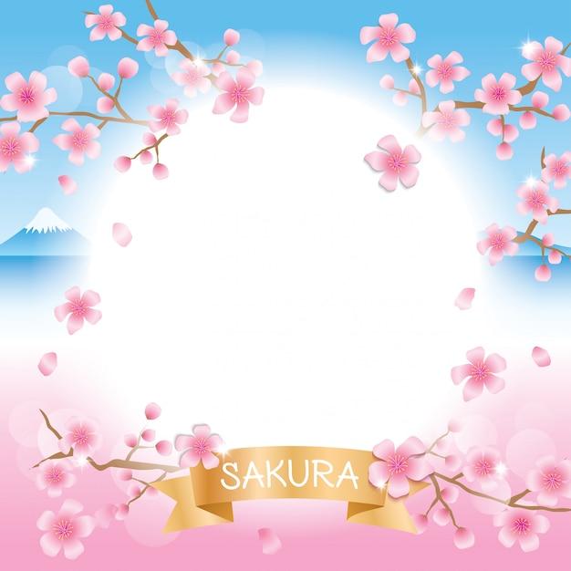 Sakura fuji Premium Wektorów