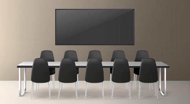 Sala Konferencyjna Do Spotkań Biznesowych, Konferencji I Szkoleń W Siedzibie Firmy Darmowych Wektorów