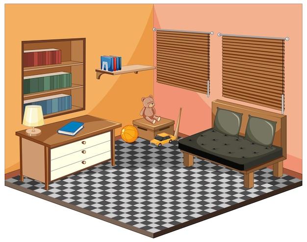 Salon Z Meblami Izometrycznymi Darmowych Wektorów