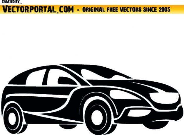 Samochód art side clip Darmowych Wektorów