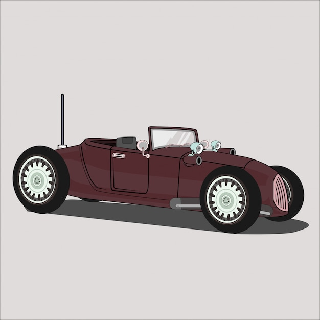 Samochód Ilustracyjny, Gorąca Droga 1782 Premium Wektorów