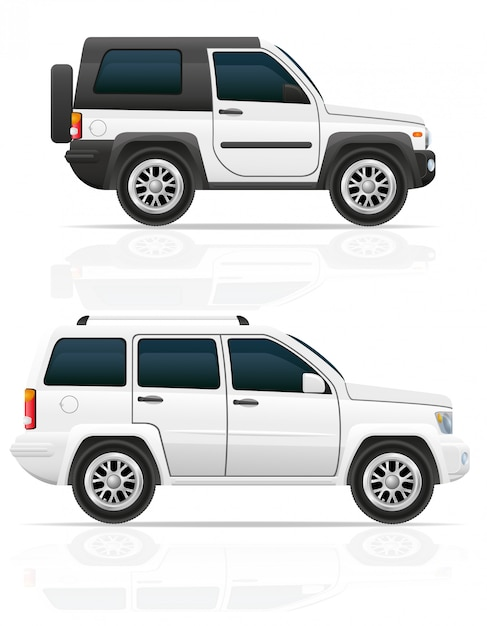 Samochód jeep off road suv Premium Wektorów