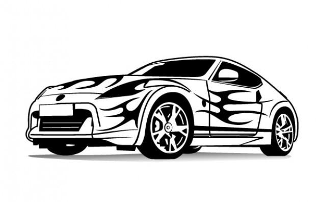 samochód sportowy grafika wektorowa Darmowych Wektorów
